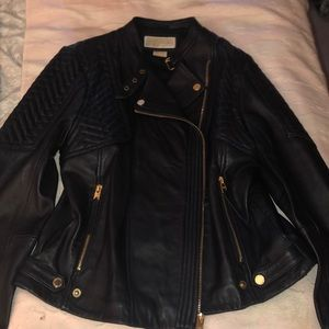 Michael Kors leather Moto
